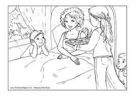 Breakfast In Bed Colouring Page