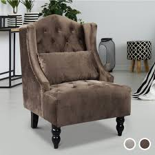 Homcom Vintage Wing Back Tufted Accent Chair - Brown Or Grey - Home Done Chair Leather High Back Chairs Living Room Accent Wingback Hcom Vintage Wing Tufted Brown Or Grey Home Done 2 Ding Upholstered Durable Top Grain Armchair Shop Belleze Extra Overstuffed Contemporary Full Recliner Chesterfield Embroidered Elements Queen Buy Fniture Elegant Appearance Product 10 Funiture Armless With Very Short Wooden Bellagio And Mattress Store 20 Best Of Modern For Guiadokartingeu Ottoman For Sale At 1stdibs
