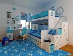 chambre la reine des neiges design interieur deco chambre enfant tapis bleu lit superpose