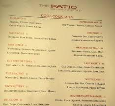The Patio Darien Il Menu by The Patio Menu Outdoor Goods