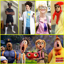 Halloweentown Ii Cast by The Cast Of Cloudy With A Chance Of Meatballs 2 Dressed As Their