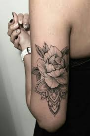 Black Roses Back Of Arm Womens Tattoo Love The Placement