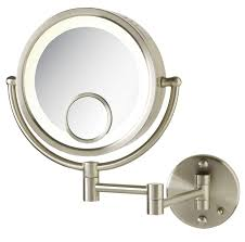 lights bronze lighted makeup mirror wall mounted mount with