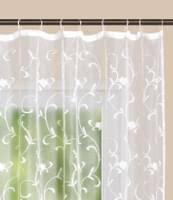 gardine store kurzstore jacquard koblenz hxb 145x300 cm kräuselband universalband weiß blumenmuster transparent voile vorhang wohnzimmer