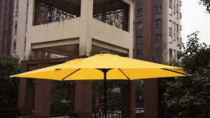 Solar Lighted Offset Patio Umbrella by Sundale Outdoor Deluxe Solar Powered Led Stripe Lighted Outdoor