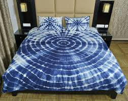 indian indigo tie dye duvet cover queen bedding comforter set ts