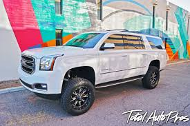 "2016 GMC Yukon XL White | Fabtech 6"" Lift Kit 