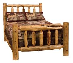 Cool Pine Log Bedroom Furniture 1000 Ideas About Bed Frame On Within Queen Decorating