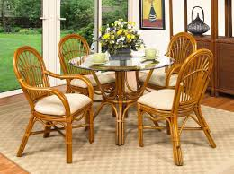 Antigua 42 Rattan Dining Set With 2 Arm And Side Chairs
