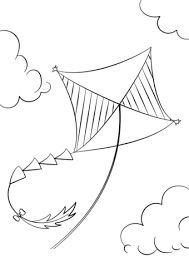 Click To See Printable Version Of Kite Flying Coloring Page