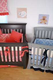 Navy And Coral Crib Bedding by 87 Best Twins Nursery Images On Pinterest Twin Nurseries Twins