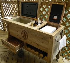 Rustic Patio Bar & Cooler | DudeIWantThat.com Patio Cooler Stand Project 2 Patios Cabin And Lakes 11 Best Beverage Coolers For Summer 2017 Reviews Of Large Kruses Workshop Party Table With Built In Beerwine Ice How To Build A Wood Deck Fox Hollow Cottage Diy Your Backyard Wheelbarrow Foil Smoker Outdoor Decorations Beer Wooden Plans Home Decoration 25 Unique Cooler Ideas On Pinterest Diy Chest Man Cave Backyard Our Preppy Lounge Area Thoughtful Place