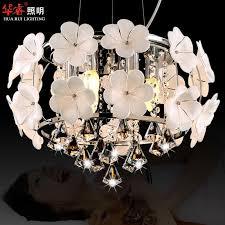 Hot Sale Handmade Glass Flower Chandelier Light Pendant Lamp Crystal Dining Room Lighting Fashion Hanging Lamps For Indoor Modern