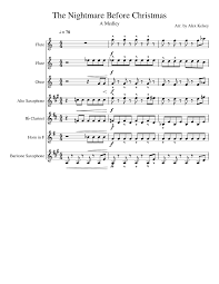 Danny Elfman This Is Halloween Download by The Nightmare Before Christmas A Medley Musescore