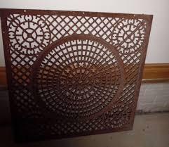 antique heat register cover ornate cast iron grate