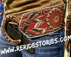 hand tooled leather belt made by the girls at re ride stories
