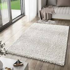 teppich hochflor shaggy teppiche langflor creme weiss wohnzimmer pflegeleicht