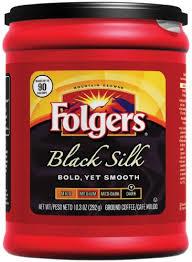 Folgers Black Silk Ground Coffee 103 Ounce