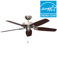 Ac 552 Ceiling Fan Wiring by Hampton Bay Larson 52 In Indoor Brushed Nickel Ceiling Fan With