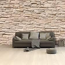murimage fototapete steine 3d 366 x 254cm inklusive kleister steinwand mauer beige asian stonewall asien tapete