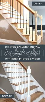 Installing Banister – Carkajans.com Wrought Iron Stair Railings Interior Lomonacos Iron Concepts Wrought Porch Railing Ideas Popular Balcony Railings Modern Best 25 Railing Ideas On Pinterest Staircase Elegant Banisters 52 In Interior For House With Replace Banister Spindles Stair Rustic Doors Double Custom Door Demejico Fencing Residential Stainless Steel Cable In Baltimore Md Urbana Def What Is A On Staircase Rod Rod Porcelain Tile Google Search Home Incredible Handrail Design 1000 Images About