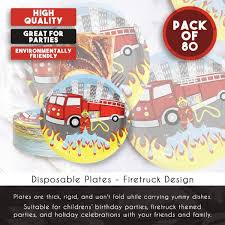 Amazon.com: Disposable Plates - 80-Count Paper Plates, Firetruck ... 5alarm Flaming Fire Truck Party Supplies Pack For 16 Guests Straws Firefighter Plates Birthday Theme Packs Fighter Boy In Red Paper Plate Amazoncom 24 Ct Health Personal Care Ideas Trucks Dessert From Birthdayexpresscom Fighter Omv58 Car Number 1935 Fordson Engine Reg Omv 58 24set Firetruck Vehicle Registration Plates Of The United States Wikiwand Fireman Toddler At A Box 2 Flee After Crash With Jersey City Fire Truck Take License