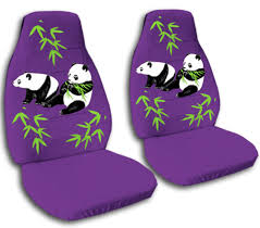 Betty Boop Seat Covers And Floor Mats by Details About 2 Front Purple Panda Velvet Seat Covers Universal