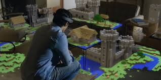 Hologram Minecraft takes over your whole living room