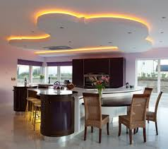 unique led lighting for modern kitchen decorating ideas with