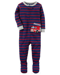 100 Fire Truck Pajamas 1Piece Truck Snug Fit Cotton PJs Carterscom