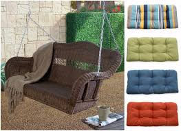 Walmart Patio Furniture Cushions by Furnitures Fascinating Porch Swing Cushions For Alluring Outdoor