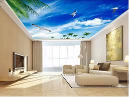 blauen himmel seagull decke 3d mural designs tapeten für wohnzimmer decke vlies tapete dekoration