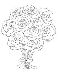 Coloring Pages Roses And Hearts Rose Color Page Heart