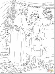 Incredible Joseph And Coat Of Many Colors Coloring Page With Pages