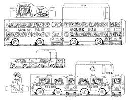 Cut Out Cars Trucks Buses By Richard Scarry Color