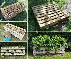 DIY Vertical Strawberry Planter From A Single Pallet