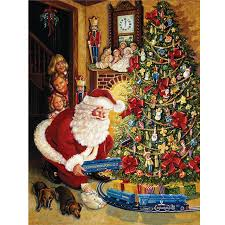 Christmas Tree Train Needlework DIY 5D Diamond Painting Embroidery Kits Mosaic Pattern Rhinestone 3d Cross