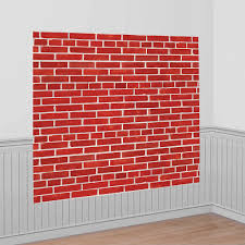 Brick Wall Scene Setter 54in X 72in | Party City