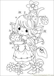 Precious Moments Fruit Fairy Coloring Page 3