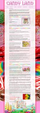 HTML CSS Coding Candy Land Boardgame Instructions 1984 On Behance