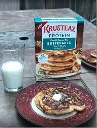 Krusteaz Pumpkin Pancake Mix Where To Buy by New Krusteaz Protein Pancake Mix Review U0026 Giveaway Momstart