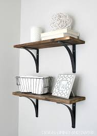 Wood Building Shelves by