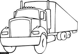 18 Wheeler Semi Truck Printable Coloring Page
