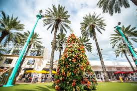 Christmas Tree On Lincoln Road Mall Miami Beach USA Royalty Free Stock Photo