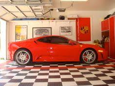 checkerboard garage floors are always fun and even better when
