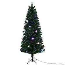 Costway 65Ft Pre Lit Fiber Optic Artificial Christmas Tree W Multicolor Lights