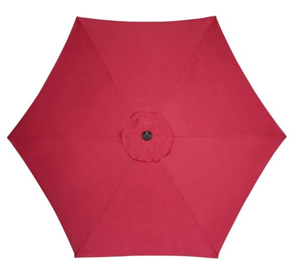 Living Accents Market Umbrella - Red, 9'