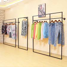 Continental Iron Ladies Fashion Pendant Creative Clothing Store Rack Floor Display Shelf
