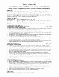 Sample Resume Format For Experienced Software Engineer Luxury Developer New Java