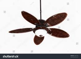 Rattan Ceiling Fans With Lights by Dark Brown Tropical Wicker Ceiling Fan Stock Photo 10813249
